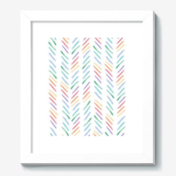 Картина «Разноцветные полоски шеврон радуга»