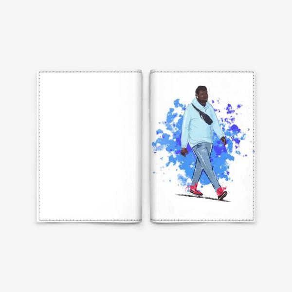 Обложка для паспорта «модный чернокожий парень»