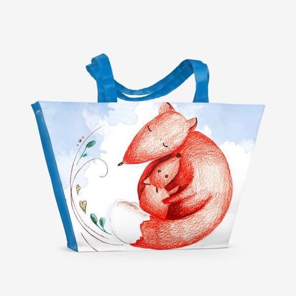 Пляжная сумка «В подарок любимой маме. С днем матери»