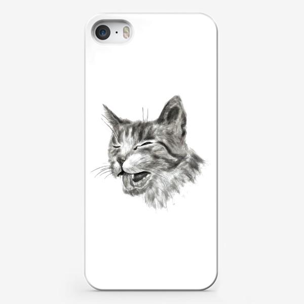 Чехол iPhone «портрет кошка чихает»