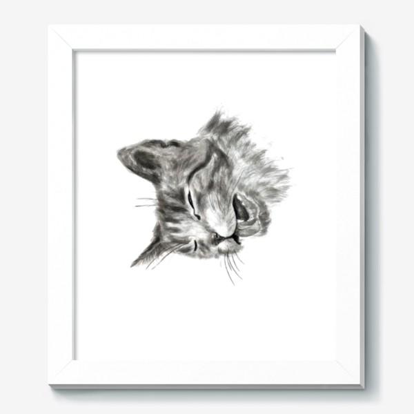 Картина «портрет кошка чихает»