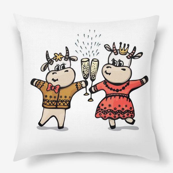 Подушка «Парочка с шампанским»