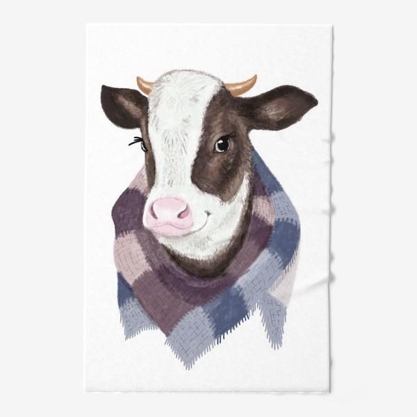 Полотенце «Корова в вязаном шарфике»
