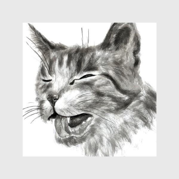 Шторы «портрет кошка чихает»