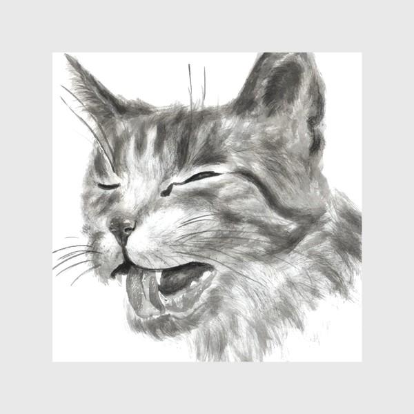 Скатерть «портрет кошка чихает»