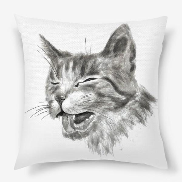Подушка «портрет кошка чихает»