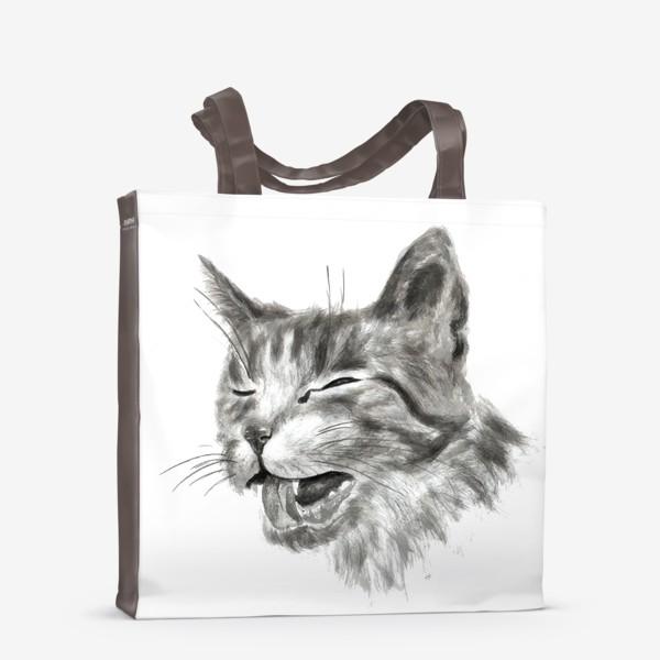 Сумка-шоппер «портрет кошка чихает»