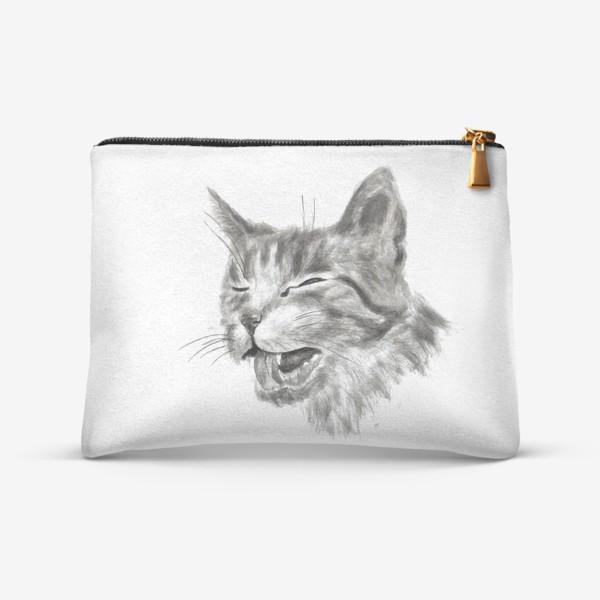 Косметичка «портрет кошка чихает»