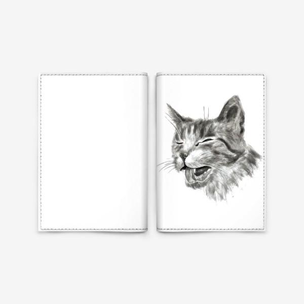 Обложка для паспорта «портрет кошка чихает»