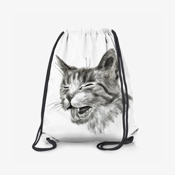 Рюкзак «портрет кошка чихает»