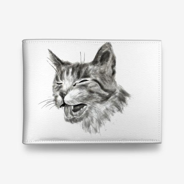 Кошелек «портрет кошка чихает»