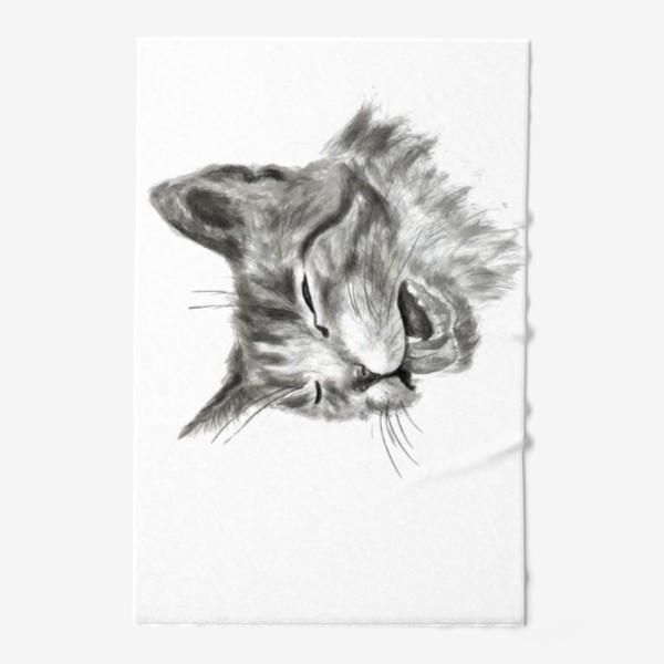 Полотенце «портрет кошка чихает»
