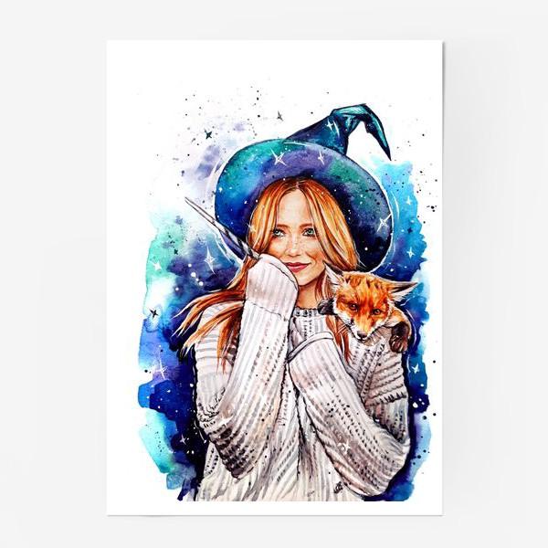 Постер «ведьмочка с лисой»