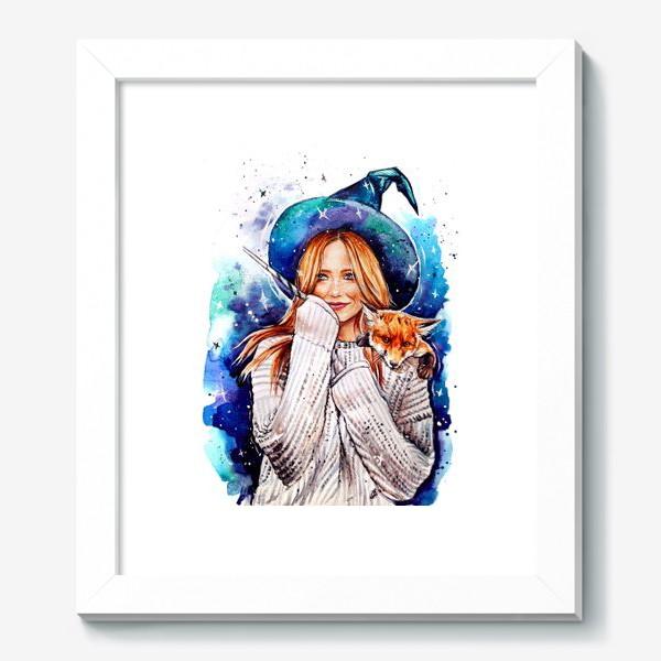 Картина «ведьмочка с лисой»