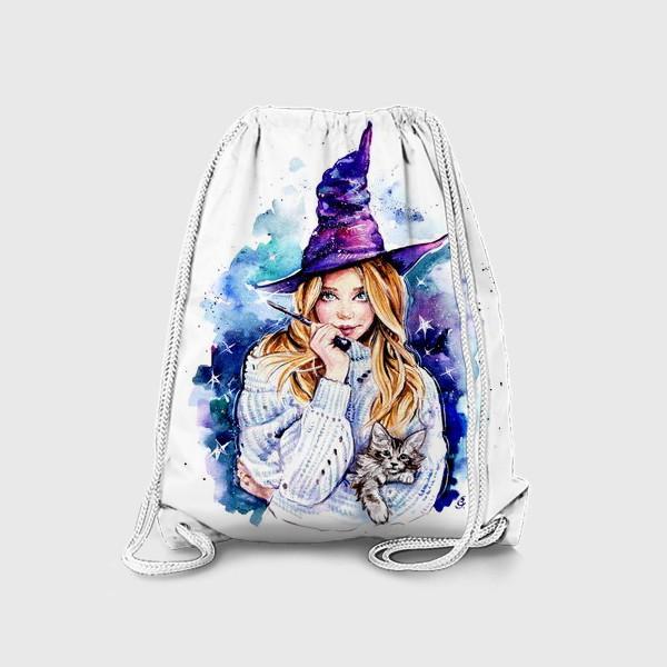 Рюкзак «ведьмочка с котом»