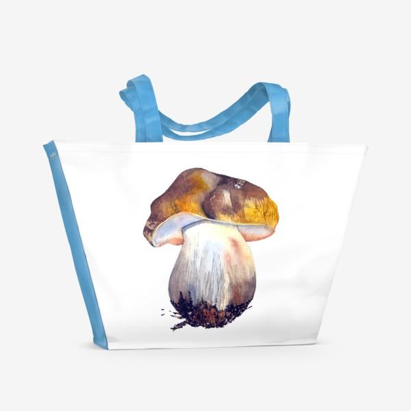 Пляжная сумка «белый гриб»