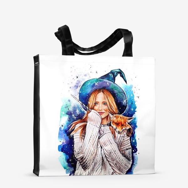 Сумка-шоппер «ведьмочка с лисой»