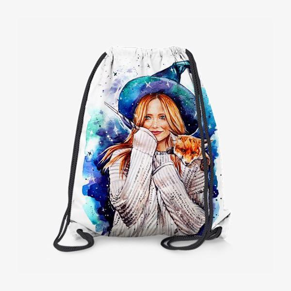 Рюкзак «ведьмочка с лисой»
