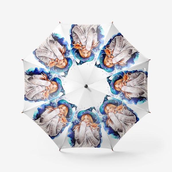 Зонт «ведьмочка с лисой»