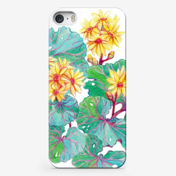 Чехол iPhone «Желтые цветы»