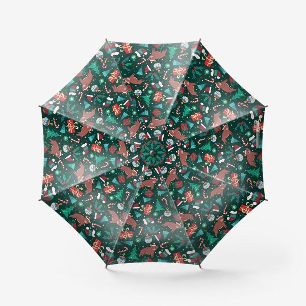 Зонт «Новогодний паттерн Год быка 2021»
