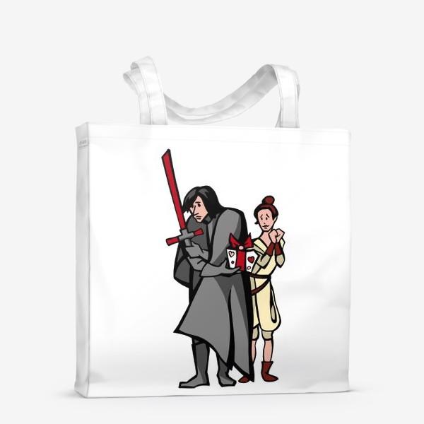 Сумка-шоппер «Звёздные войны. Кайло Рен и Рей. Любимой в подарок.»