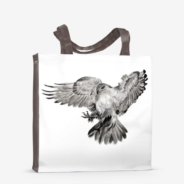 Сумка-шоппер «Орел расправил крылья и летит в прыжке»