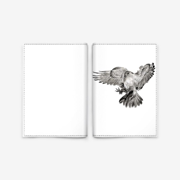 Обложка для паспорта «Орел расправил крылья и летит в прыжке»