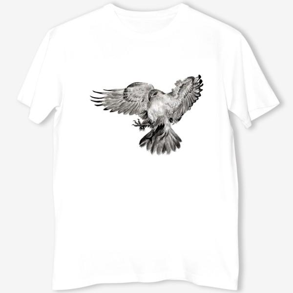 Футболка «Орел расправил крылья и летит в прыжке»