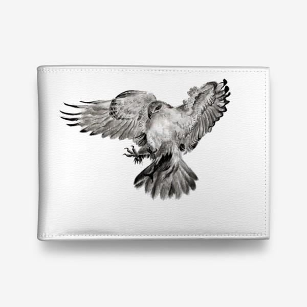 Кошелек «Орел расправил крылья и летит в прыжке»