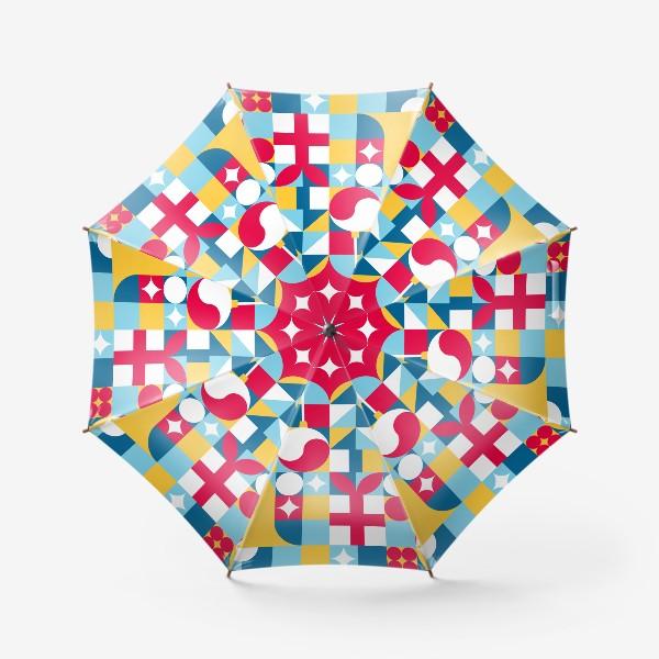 Зонт «Рождественский паттерн. Узор на Новый год»
