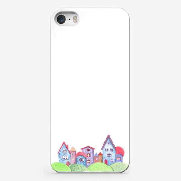 Чехол iPhone «Акварельные домики»