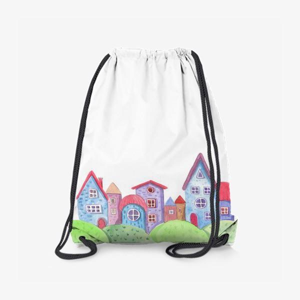 Рюкзак «Акварельные домики»