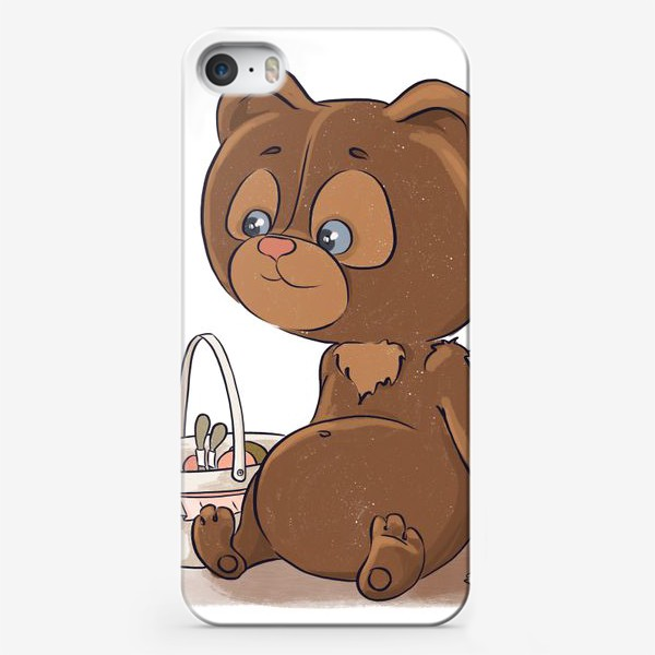 Чехол iPhone «Медвежонок и мед»