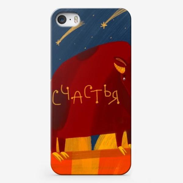 Чехол iPhone «Год быка - пожелания счастья»