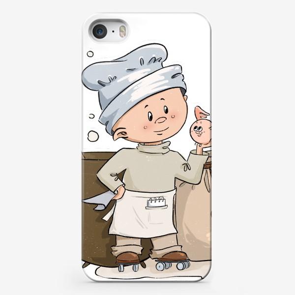 Чехол iPhone «Поваренок и друг»