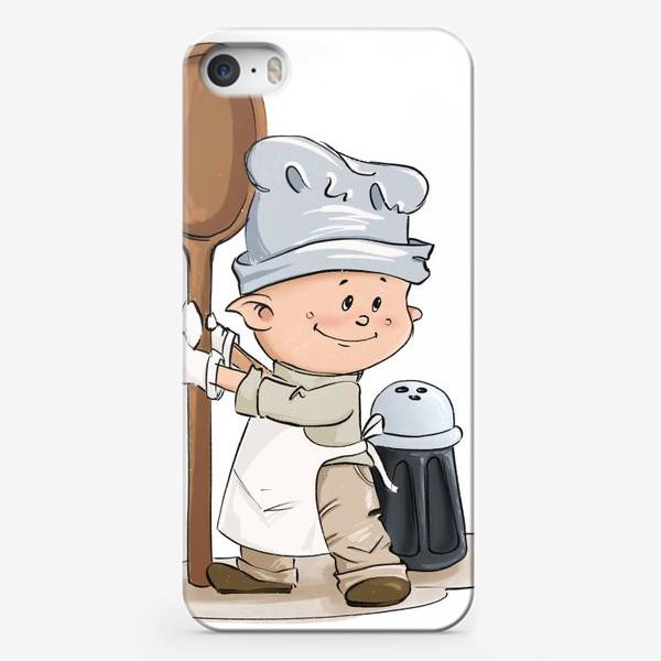 Чехол iPhone «Поваренок с ложкой»