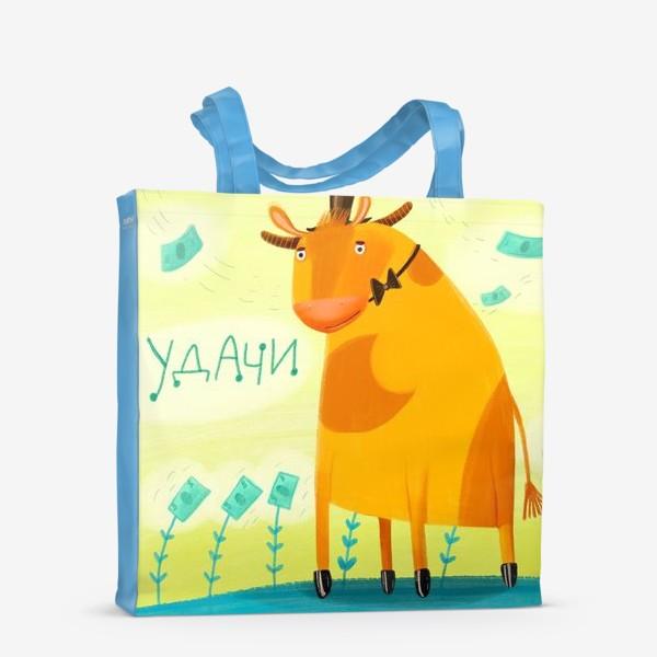 Сумка-шоппер «Год быка - пожелания удачи»