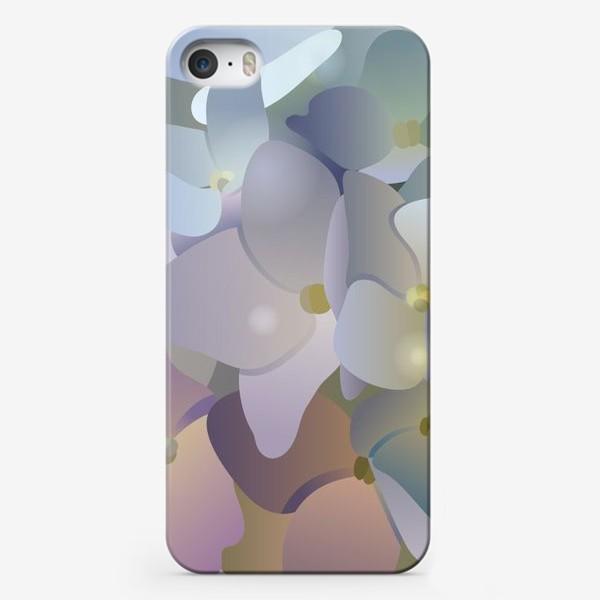 Чехол iPhone «Голубая гортензия»