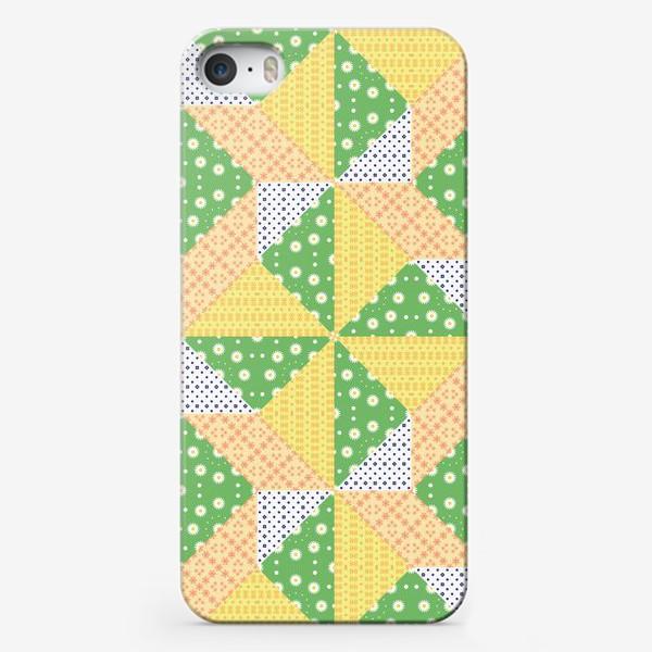 Чехол iPhone «Лоскутный фон, пэчворк»