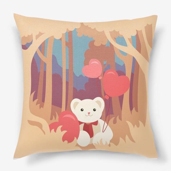 Подушка «Медвежонок в лесу»