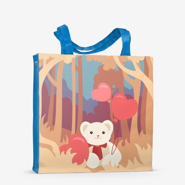 Сумка-шоппер «Медвежонок в лесу»