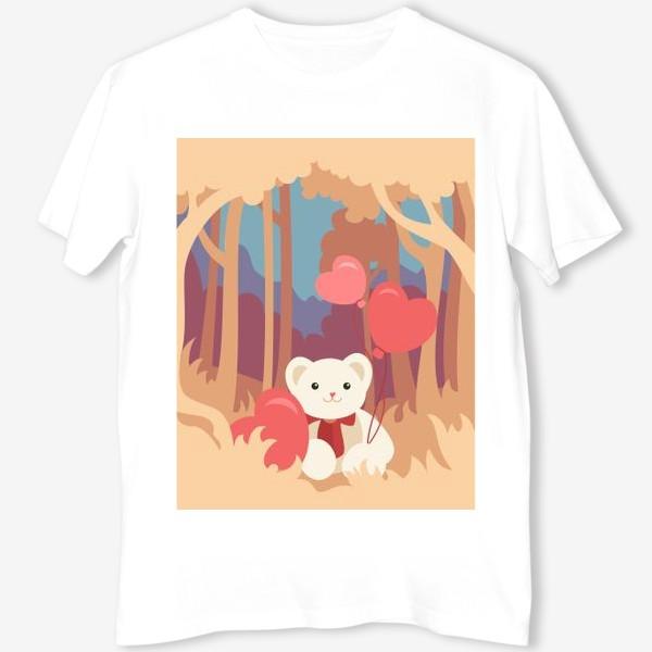 Футболка «Медвежонок в лесу»