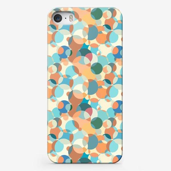 Чехол iPhone «Паттерн из кругов разных цветов. Геометрический рисунок.»