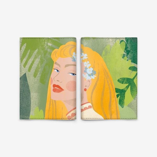 Обложка для паспорта «красавица»