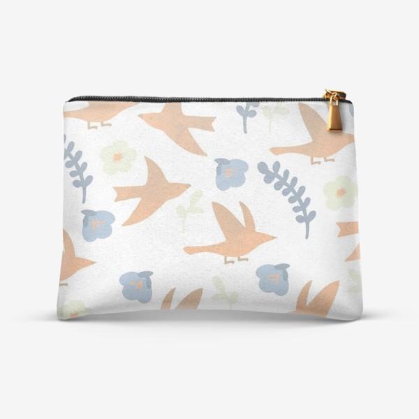 Косметичка «птички весенние»