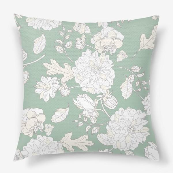 Подушка «элегантные цветы»