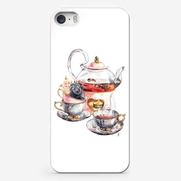 Чехол iPhone «Чайные коты»