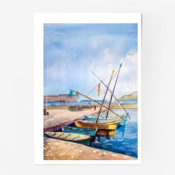 Постер «Яхты Франция»