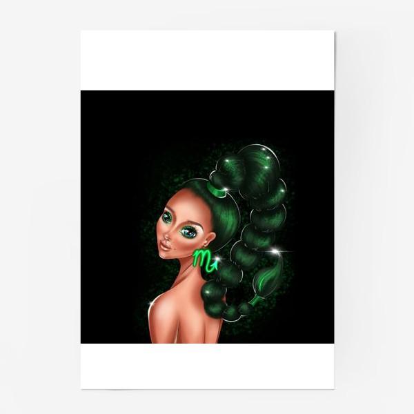 Постер «Скорпион. Знаки зодиака. Коварная девушка»